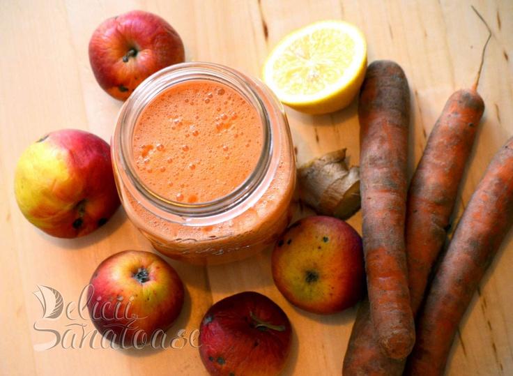 Carrot, apple, ginger, lemon juice