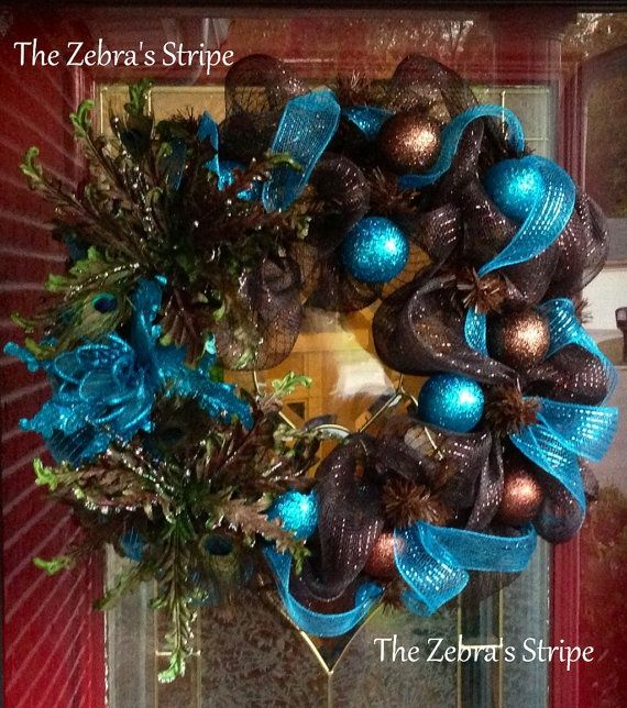 Christmas Decorations In Blue And Brown : Images about i m dreaming of a blue and brown