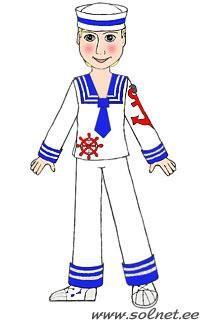 Маскарадный костюм матроса французского