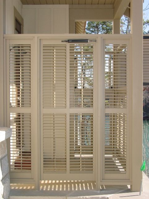 45 best deck re do images on pinterest for Privacy shutters for deck