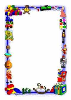 Toys-themed A4 page borders (SB3895) - SparkleBox