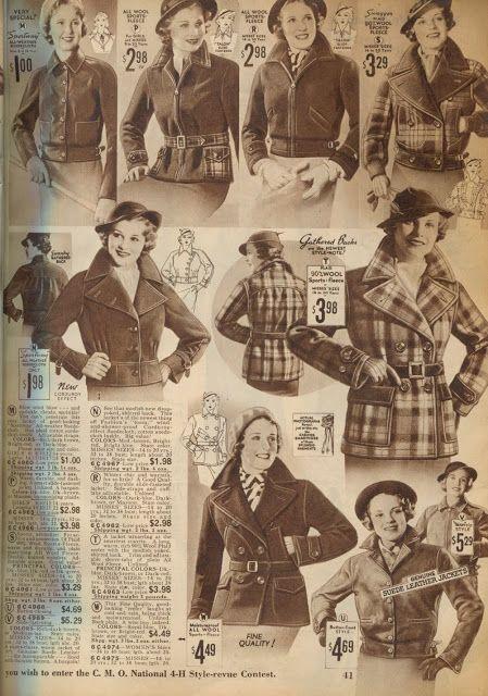 1930s jackets - NewVintageLady: Catalog Sunday