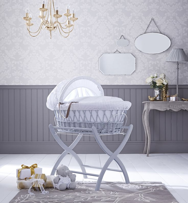 Our stunning new grey Moses basket would look beautiful in any nursery, but especially a grey one!