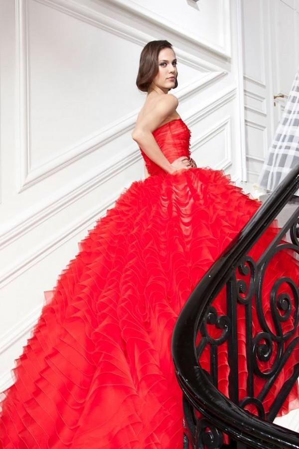 89 best Red and black wedding dresses images on Pinterest