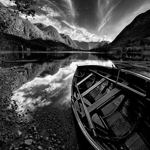 mountains,feel,boat