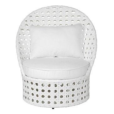 Z Gallerie - Portofino Outdoor High-Back Chair - White