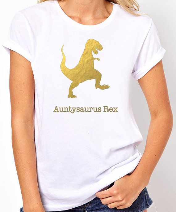 Aunt TShirt Auntysaurus Rex Aunt Shirt Mother's by threadedtees