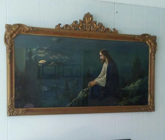 Check out this item in my Etsy shop https://www.etsy.com/listing/510382269/garden-of-gethsemane-gold-frame-jesus