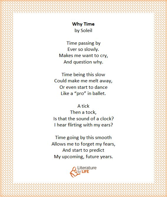 """""""Why Time"""" by reading circle participant, Soleil"""