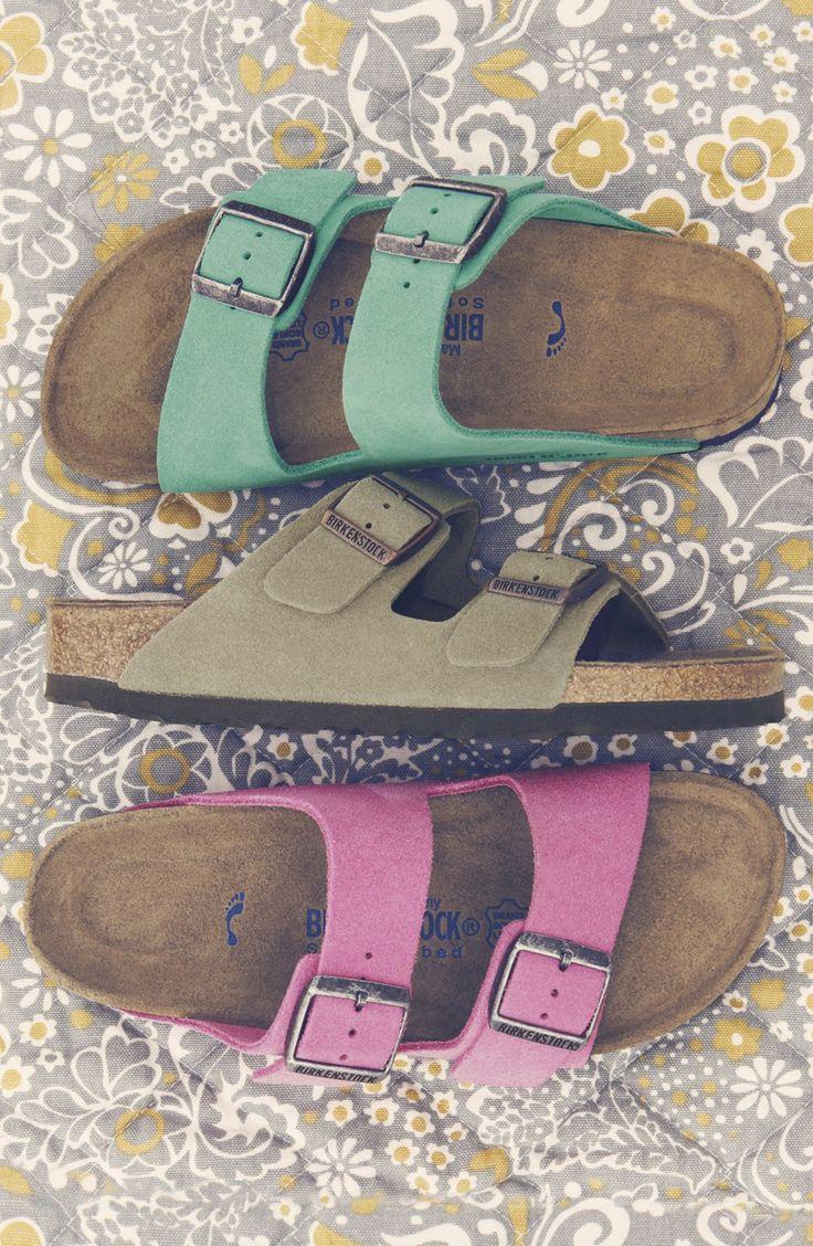 Birkenstock 'Arizona' Soft Footbed Suede Sandal (Women) : Afopo