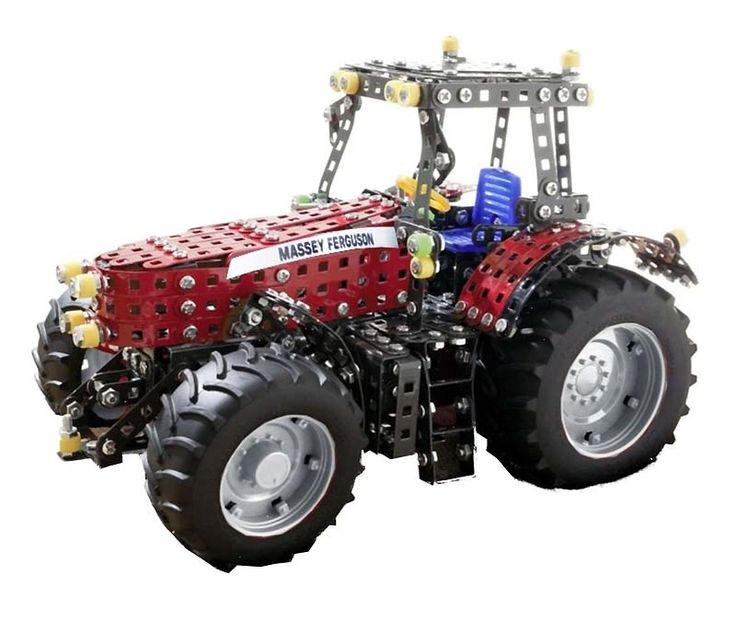 """Meccano"" Tronico Massey Ferguson 8690 Tractor Metal Kit T10080"