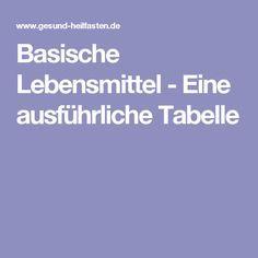 Basische Lebensmittel - Eine ausführliche Tabelle