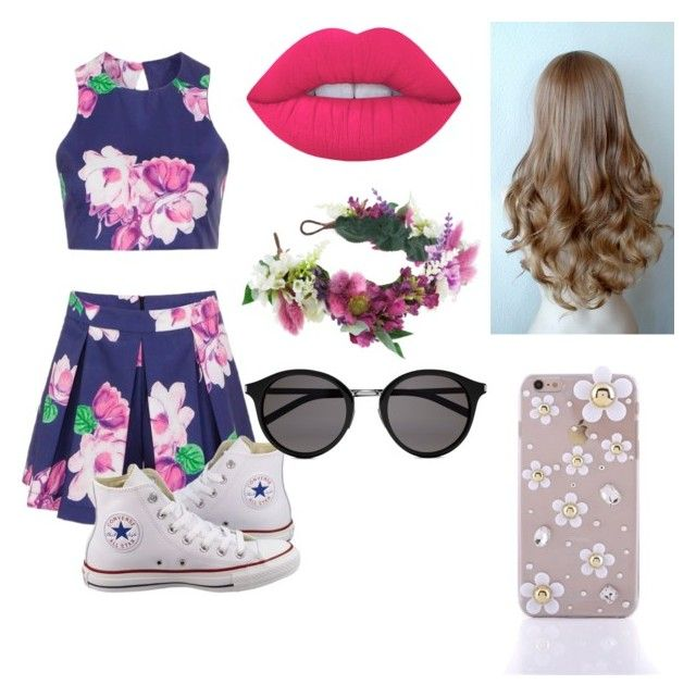 """Untitled #29"" by caoimheod on Polyvore featuring Converse, Lime Crime, Rock 'N Rose and Yves Saint Laurent"