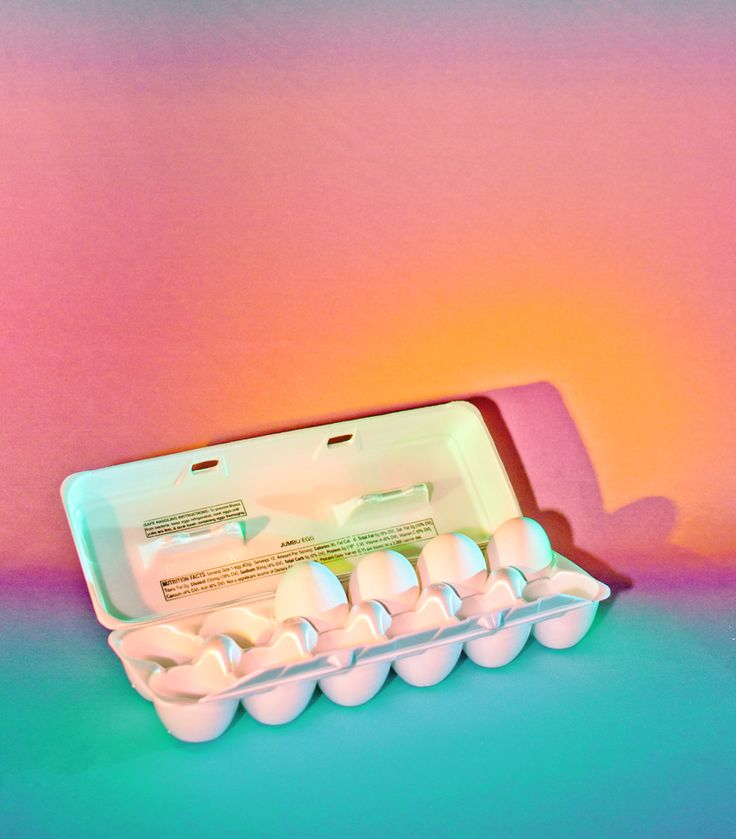 art direction | experimental colored lighting - egg carton still life photography