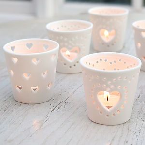 Ceramic Heart Tea Light Holder - home accessories