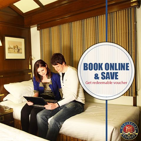 #MaharajasExpress presents to you the 'Book Online and Save' offer. Avail this exciting deal by booking online at Maharaja Express