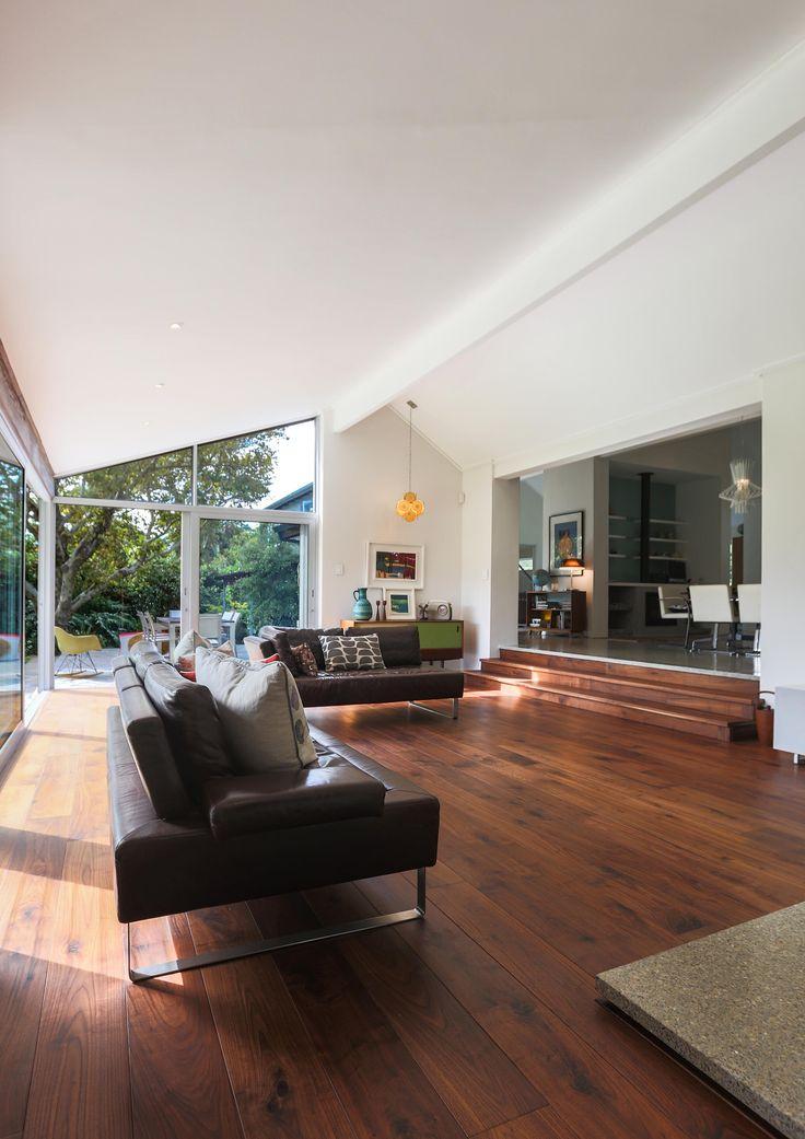 Walnut flooring in the living room