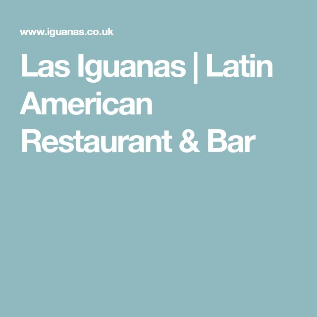 Las Iguanas   Latin American Restaurant & Bar