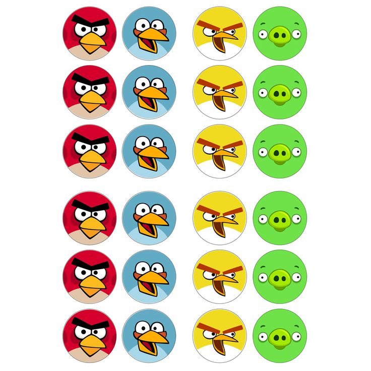 Angry Birds Game 24x Edible Cup Cake Topper Game Search