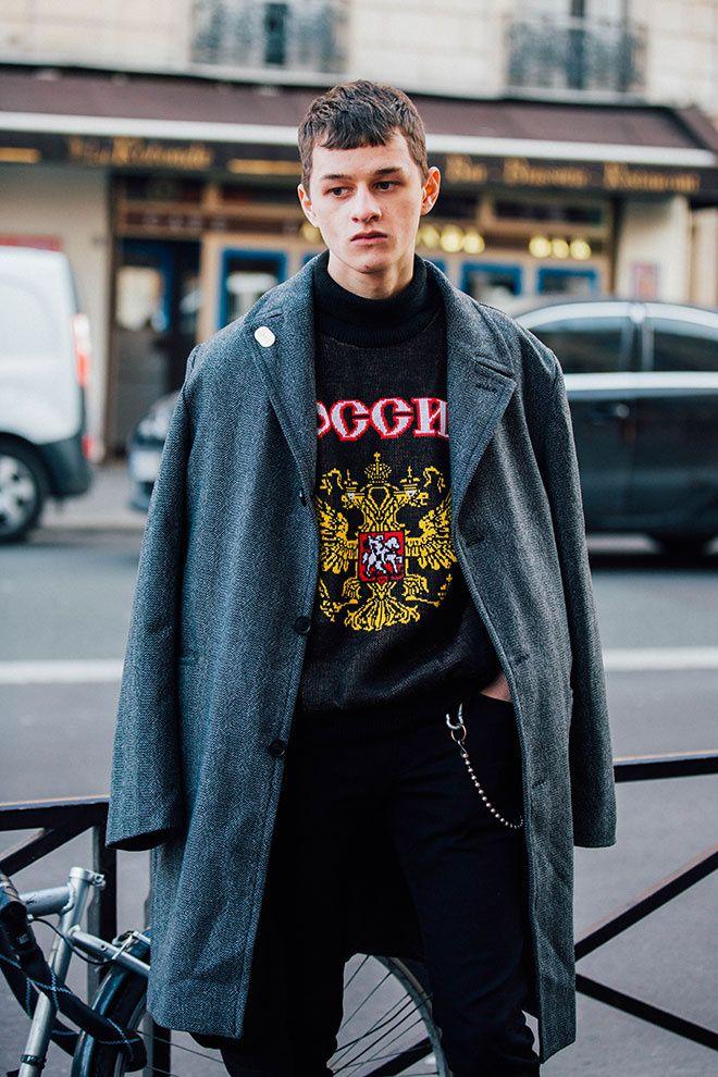 Les street looks des mannequins off-duty à la Fashion Week homme automne-hiver…