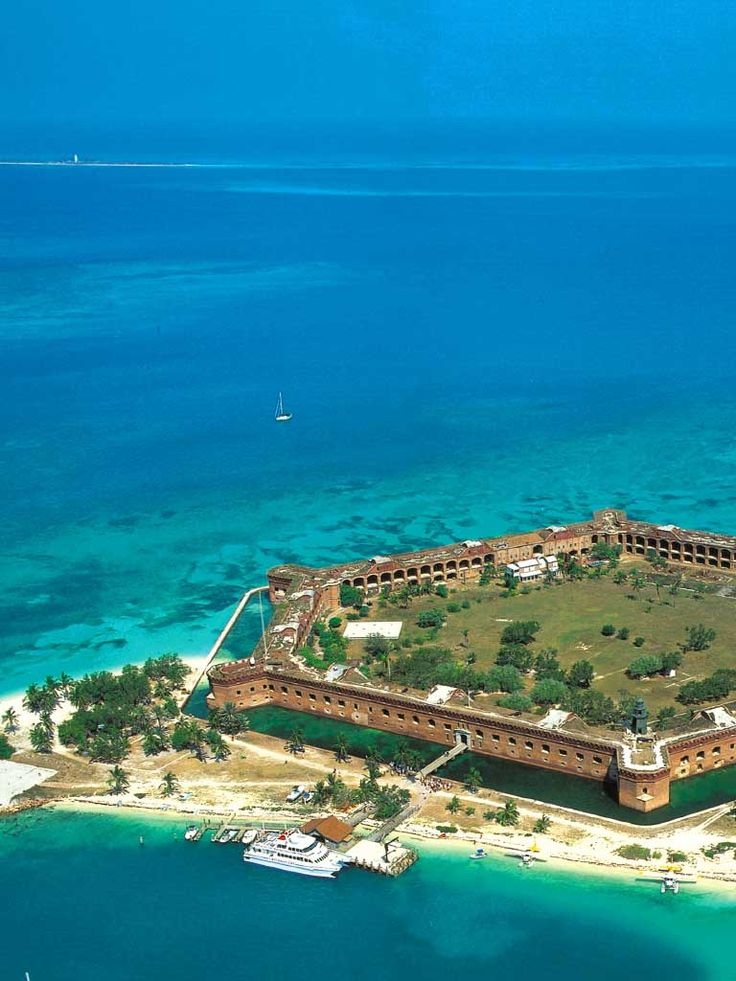 Dry Tortugas National Park. 3 hr boat ride from Key West. $170 ferry, breakfast and lunch included, + tour of the fort (prison in Civil War), and snorkel equipment. - SO AWESOME!!!!! Done - September 22, 2015.