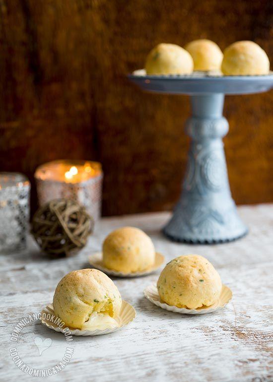 Baked Bollitos de Yuca (Cassava and Cheese Balls) | Dominican Cooking
