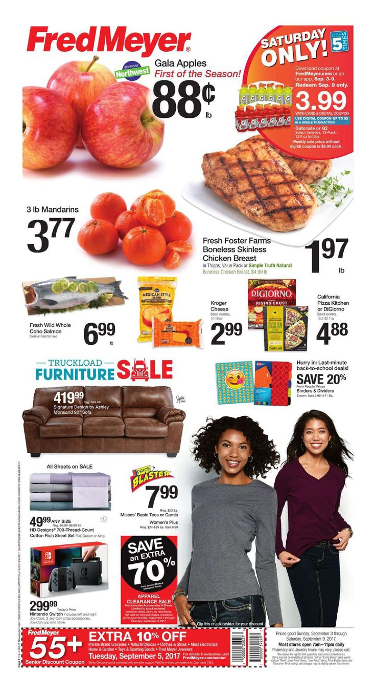 Fred Meyer Weekly Circular September 3 - 9, 2017 - http://www.olcatalog.com/grocery/fred-meyer-weekly-ad.html