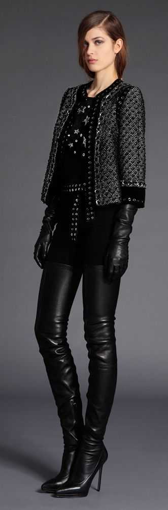 Andrew Gn leather gloves leather pants leather everywhere