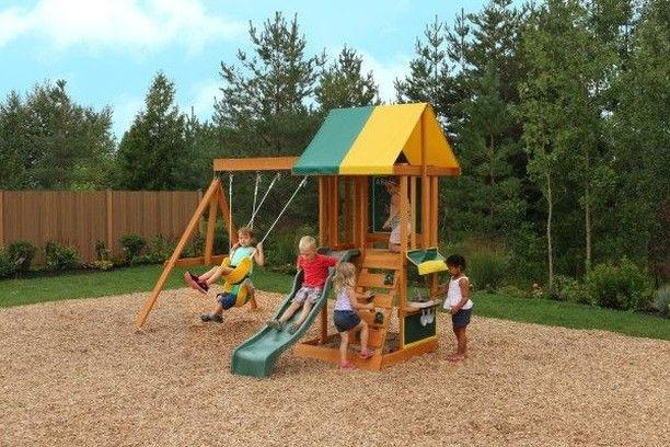 Garden Play Equipment Children S Swings Slides Monkey Bars Playhouses Backyard Playset Wooden Swings Wooden Playset