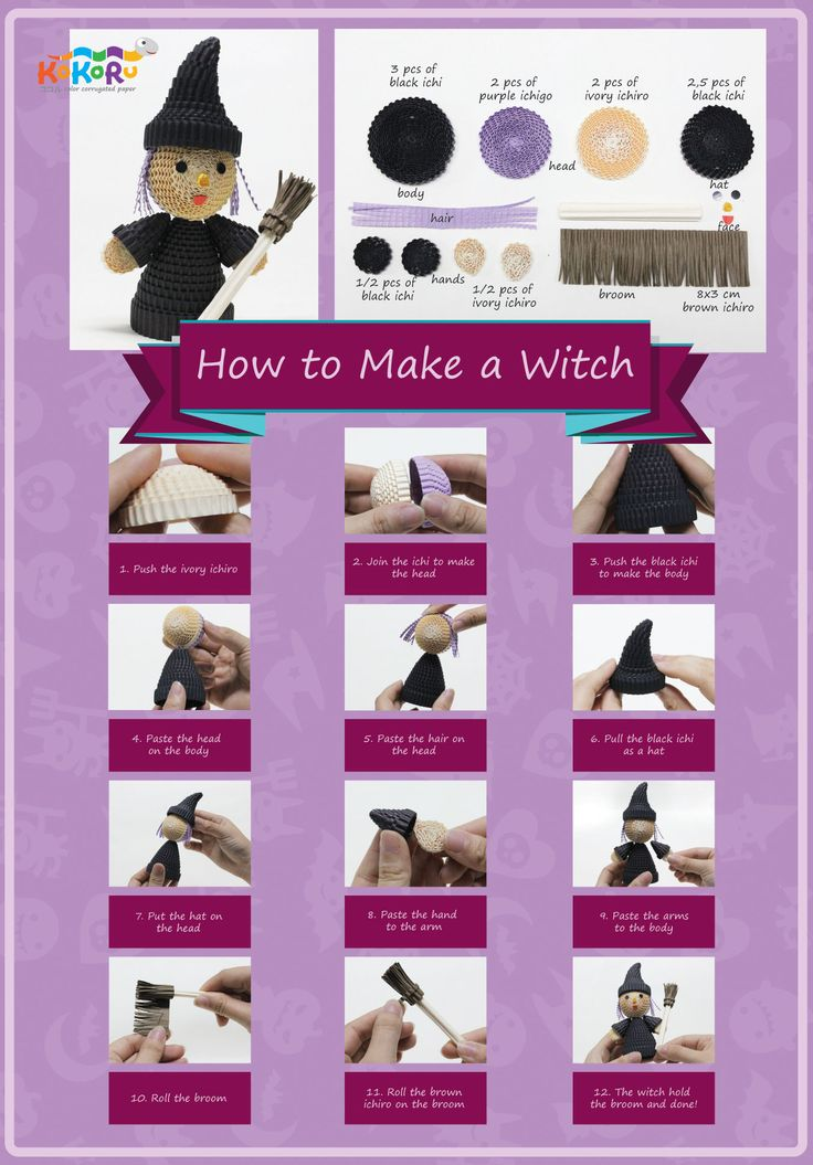how to make the Witch #kokoru #halloweeen