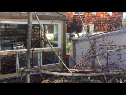 Recycled Window Greenhouse Build 3 - YouTube