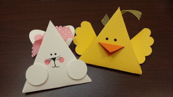 Easter Bunny and Easter Chick treat boxes set of by CardsbyDeanna