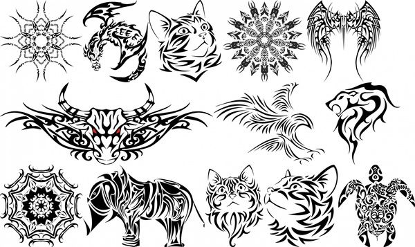 3d Tatoo Icons Collection Free Vector In Open Office Drawing Svg Svg Format Format For Free Download 1 27mb 3d Element Desi Vector Free Icon Collection Drawings