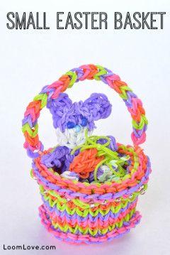 small easter basket rainbow loom