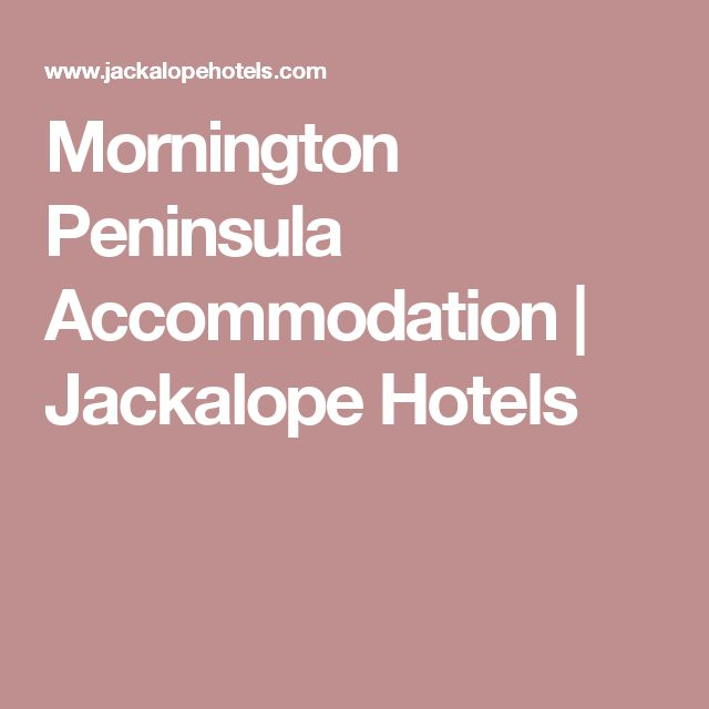Mornington Peninsula Accommodation | Jackalope Hotels