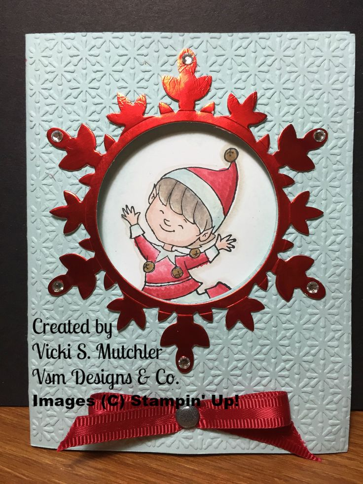 Stampin' Up! Christmas Cutie Stamp Set from the 2015 Holiday Catalog has inspired me to create alternative cards as well, check out my other cards.