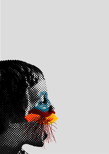 graphics. halftone with playful colours!