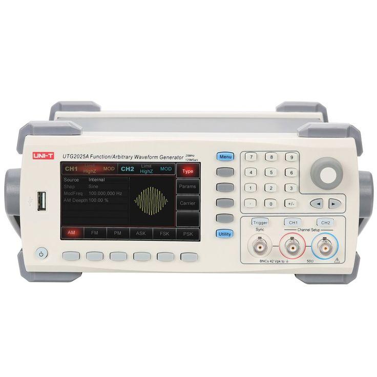 UNI-T UTG2025A 25mhz usb los canales dobles señal funcionan el generador de onda arbitrario 200msa / s 4.3inch tftlcd arb. Profundidad de memoria 1m