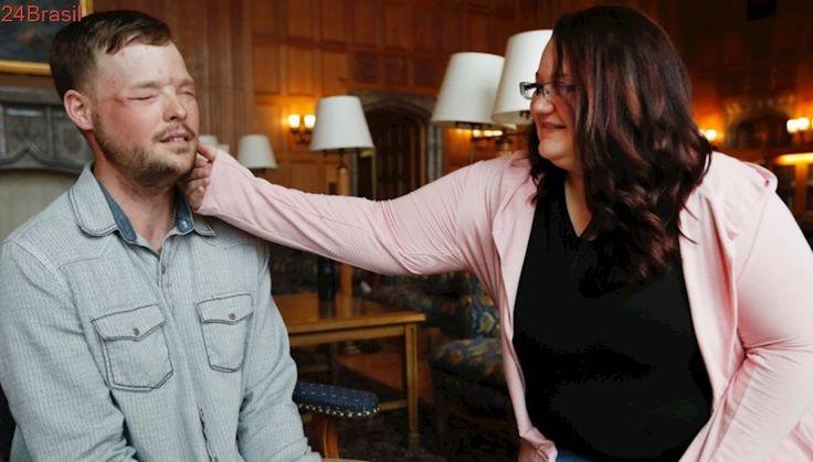 O rosto que ela conhecia tão bem   Depois de doação, viúva reencontra a face do marido em outro homem