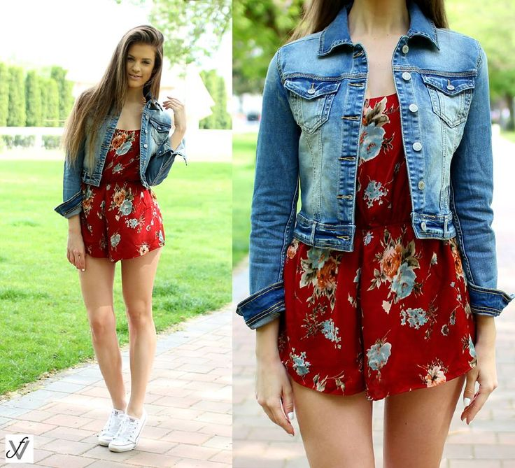 Floral print playsuit for a fresh and youngish look...:)  #shopping #style #floral #playsuit #fashion