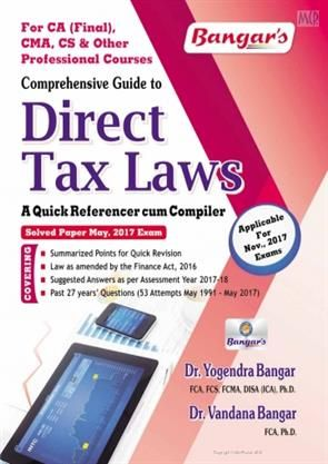 Direct Tax Laws Quick Referencer cum Compiler -  CA Final Direct Tax Laws Solved Paper May 2017