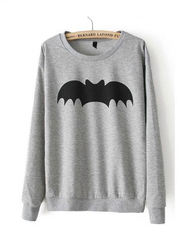 Grey Bat Sweatshirt | D.M. Retro