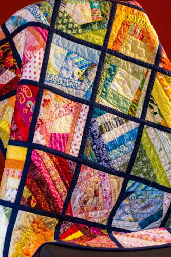 Happy Scrappy Quilt - unable to find link but enjoy looking at these blocks - all different styles making it very easy to use scraps ...