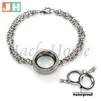 Nuovo arrivato braccialetto chain link, medaglione galleggiante braccialetto chain, vetro vivere braccialetto di fascino