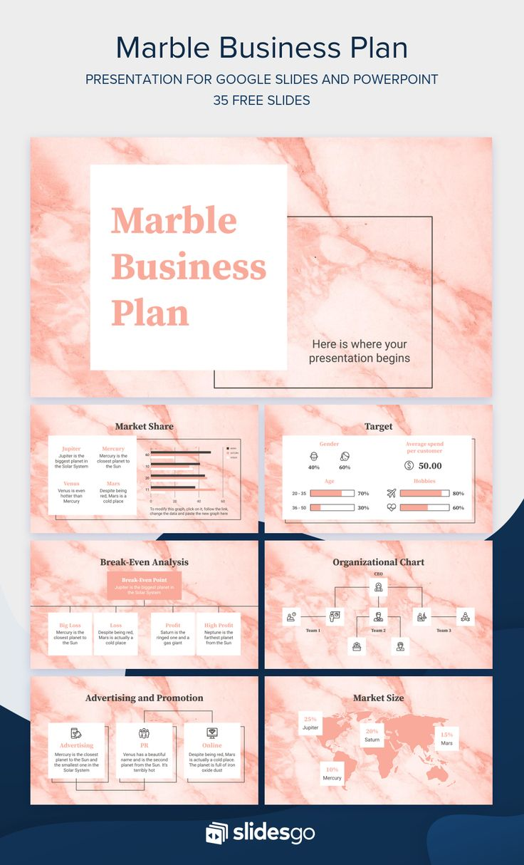 Use this smart marble template to design your business