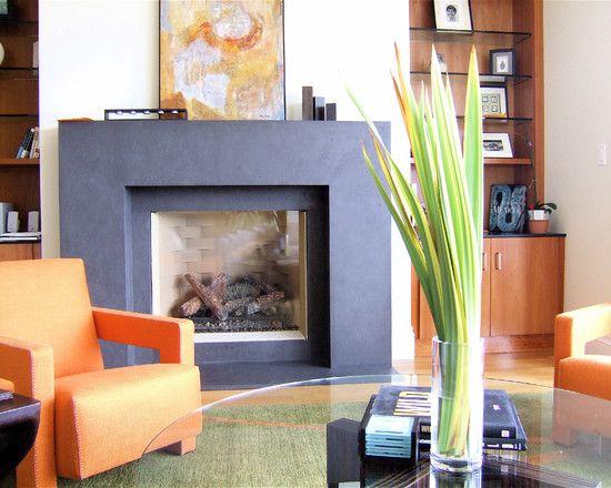 15 best images about fireplace ideas on pinterest - Modern fire surround ideas ...
