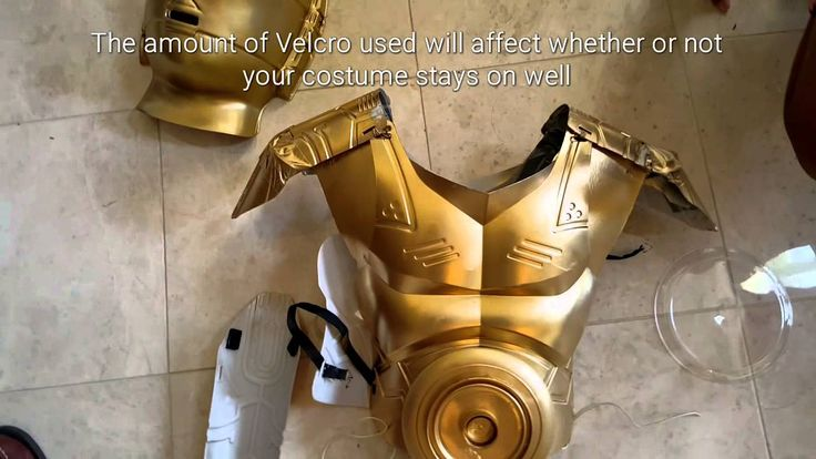A homemade C3PO costume under $20