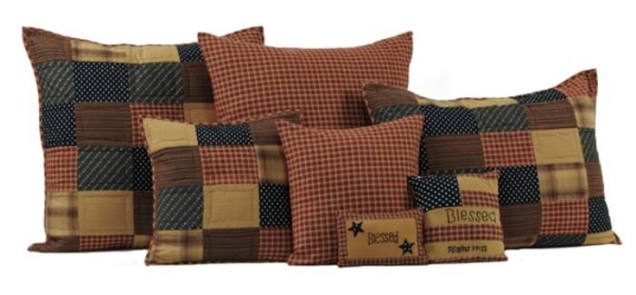 Country and Primitive Bedding, Quilts - Patriotic Patch Bedding by Victorian Heart - Country Decor, Primitive Decor, Bedding, Braided Rugs