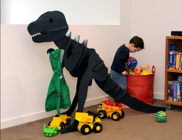 Build-your-own Dinosaur Educational Kits take kids' storage to new heights