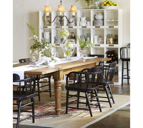 Rustic dining table w black chairs from pb dining rooms pinterest rustic dining tables - Ikea rustic dining table ...